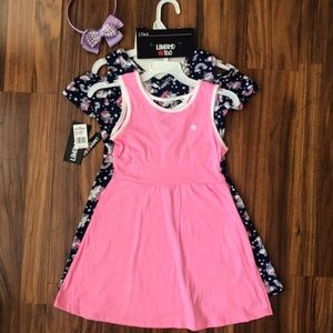 Limited Too Girls 2-Pack Unicorn Pink Dress Size M